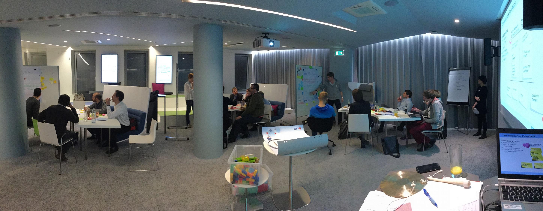 Panoramabild vom Co-Creation Workshop