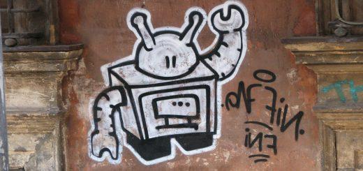 Foto Graffiti eines Roboters