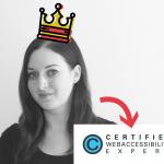 Eva Angerer ist nun zertifizierte Expertin für Web-Accessibility