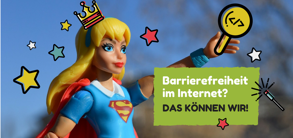 Symbolbild zu Barrierefreit im Netz mit Superwoman