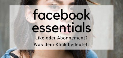 Portrait einer Frau. Text: Facebook essential Like oder Abonnement? Was dein Kliick bedeutet.