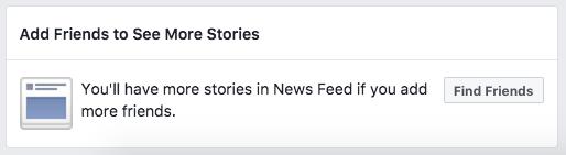 Screenshot vom Ende der Facebook-Timeline