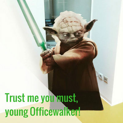 Die Heldenreise. Meister Yoda sagt: Trust me you must, young Officewalker
