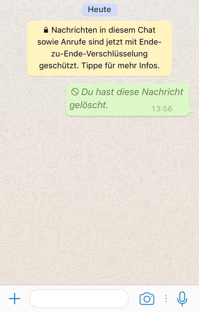 Du hast eine nachricht erhalten aber deine whatsapp version