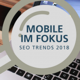 Beitragsbild SEO Trends mit Mobile First Index, Accelerated Mobile Apps und Progressive Web Apps