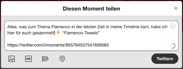 Über Twitter Moments twittern