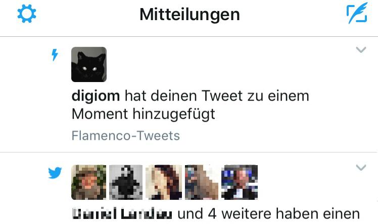 Twitter Moment Mitteilung