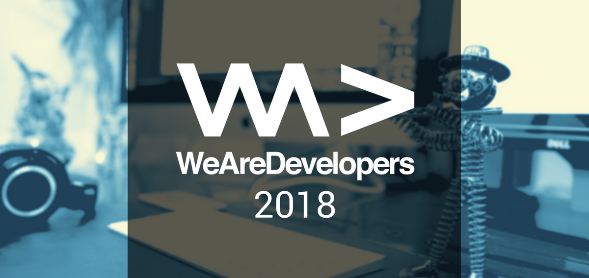 Das Logo der We Are Developers Konferenz 2018