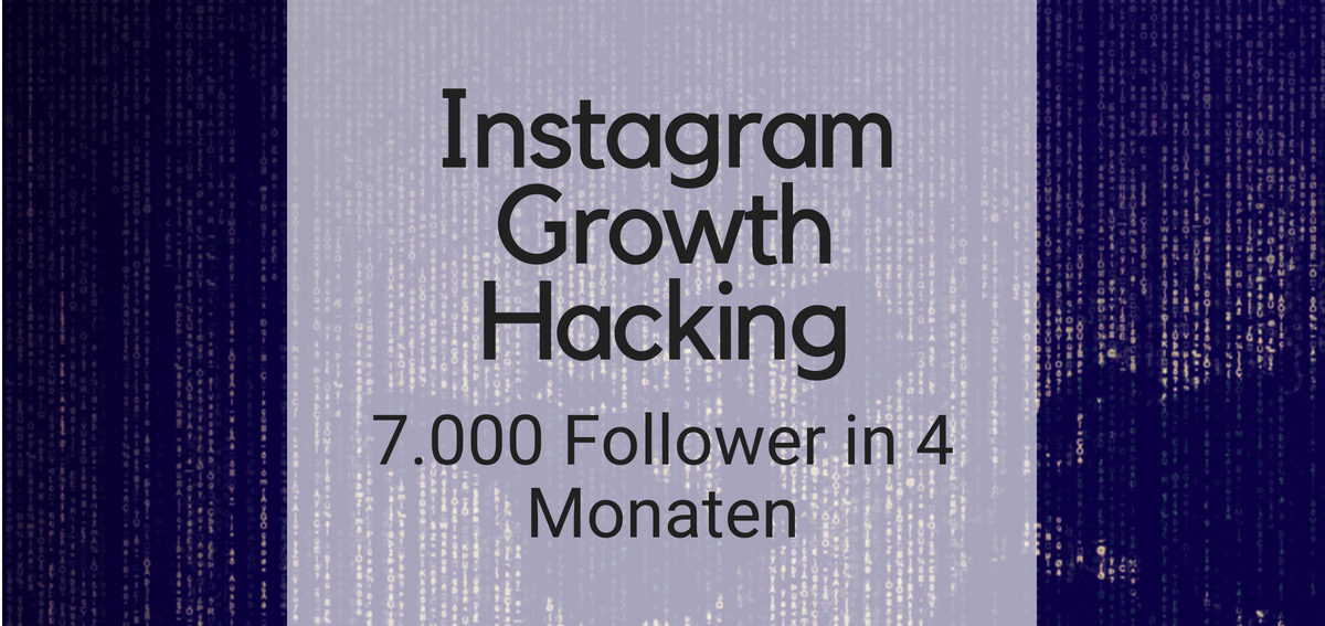 Instagram Growth Hacking 7000 Follower in 4 monaten