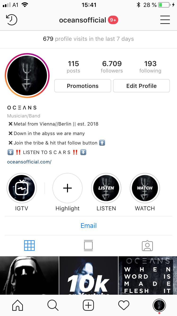 Instagram Profil von @oceansofficial