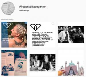 Screenshot zum Frauenvolksbegehren von Instagram