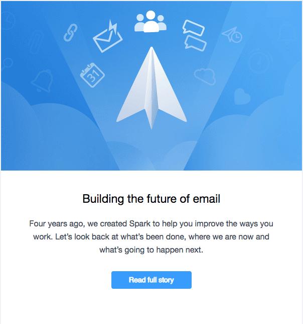 Screenshot einer E-Mail von readdle.com mit CTA-Button