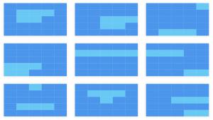 Screenshot: Grid-Beispiele für eine Facebook Bild-Ad