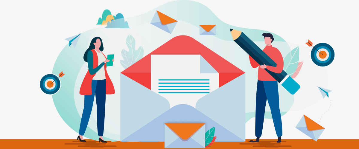 Illustration zum Thema E-Mail Adressen sammeln