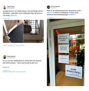 Drei Tweets mit dem Hashtag #Beifunk