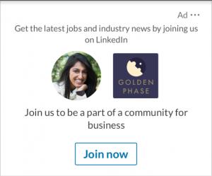 Screenshot einer LinkedIn Spotlight Ad