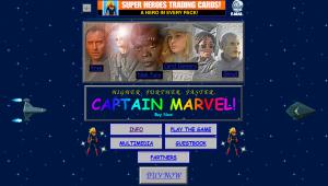 Screenshot der Startseite von Captain Marvel