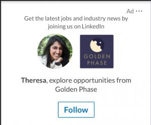 Screenshot einer LinkedIn Follower Ad