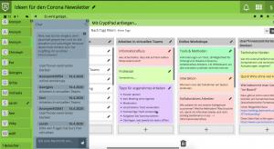 Screenshot von einer Sammlung in Padw3c