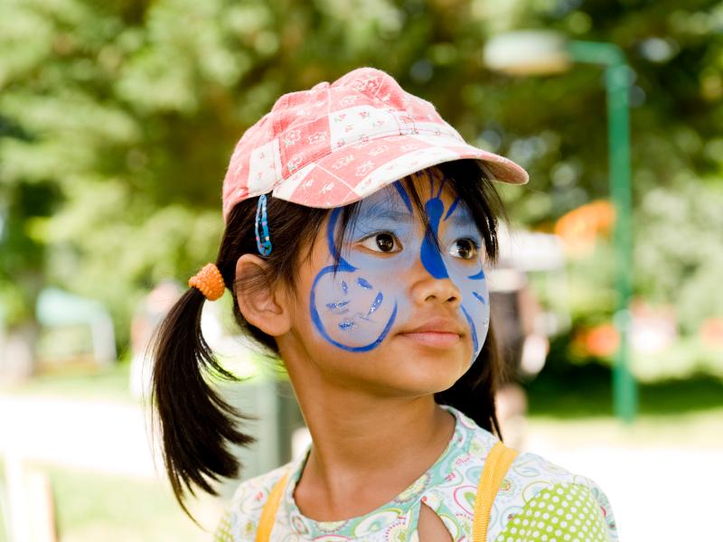 Kind beim Wiener Ferienspiel