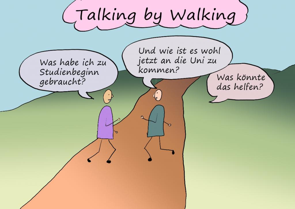 gezeichnete Anleitung Talking by Walking
