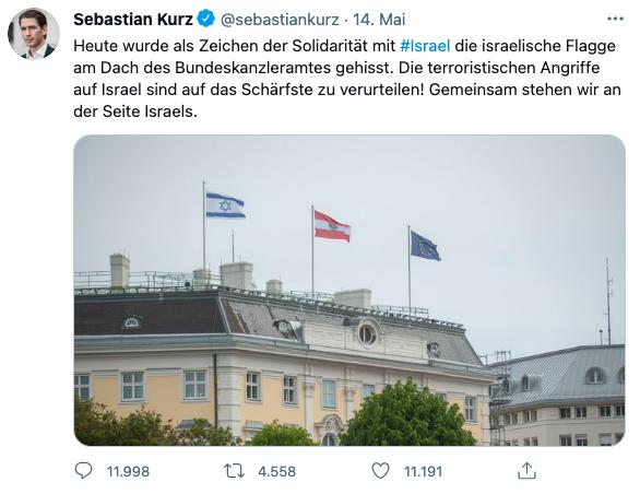 Tweet Sebastian Kurz vom 14. Mai 2021