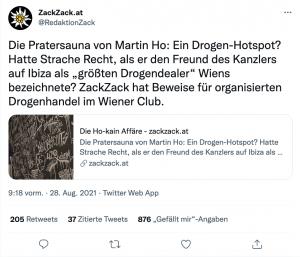 Tweet von ZackZack